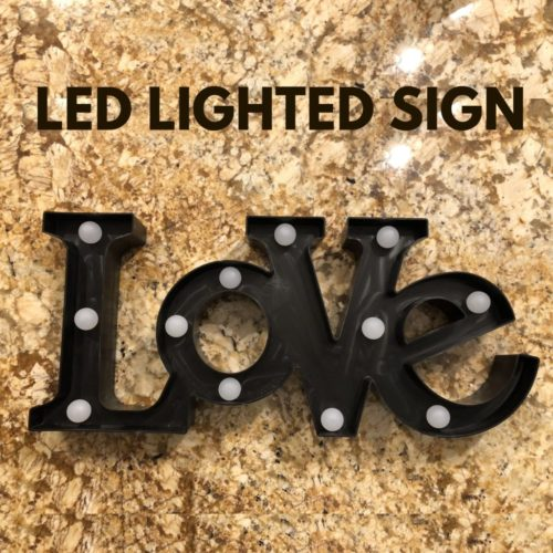 LED LOVE SIGN PHOTO